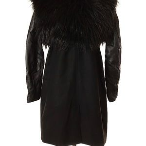 BB DAKOTA Faux Fur Shrug Coat